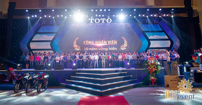 Tổ chức sự kiện - Lễ kỷ niệm 17 năm thành lập TOTO Việt Nam 2