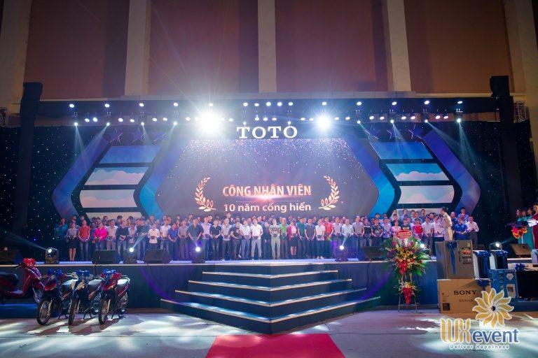 Tổ chức sự kiện – Lễ kỷ niệm 17 năm thành lập TOTO Việt Nam 002