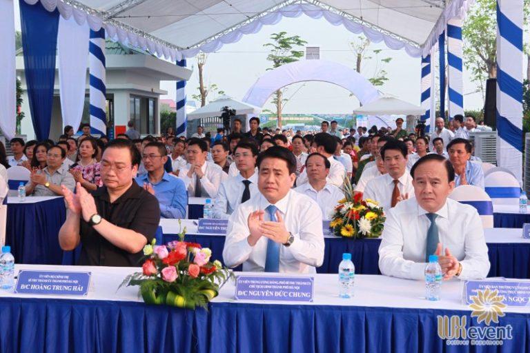 """Tổ chức sự kiện lễ khánh thành """"Nhà máy xử lý nước thải làng nghề Cầu Ngà"""" 8"""