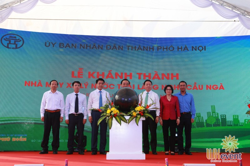 """Tổ chức sự kiện lễ khánh thành """"Nhà máy xử lý nước thải làng nghề Cầu Ngà"""" 11"""