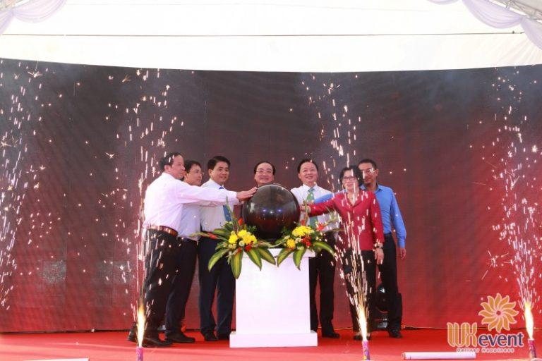 """Tổ chức sự kiện lễ khánh thành """"Nhà máy xử lý nước thải làng nghề Cầu Ngà"""" 9"""