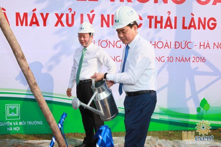"""Tổ chức sự kiện lễ khánh thành """"Nhà máy xử lý nước thải làng nghề Cầu Ngà"""" 10"""