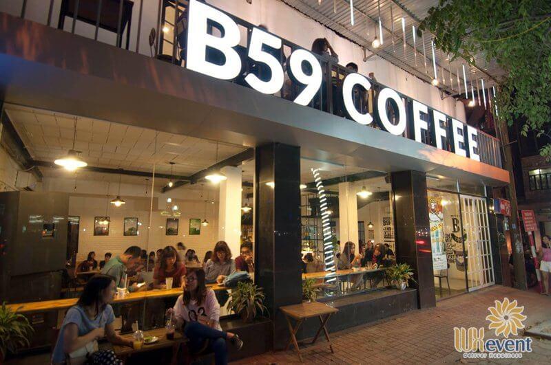 quán cafe tổ chức sự kiện ở hà nội B59 Coffee