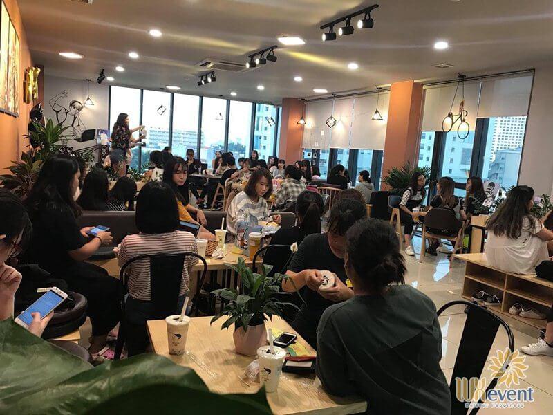 Quán cafe tổ chức sự kiện Hefkcha Chùa Láng