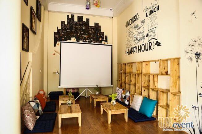 quán cafe cho thuê tổ chức sự kiện ở Hà Nội Rain Coffee