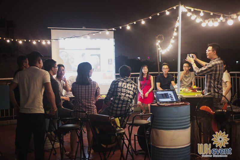 Quán cafe tổ chức sự kiện ngoài trời Roofboom Cafe