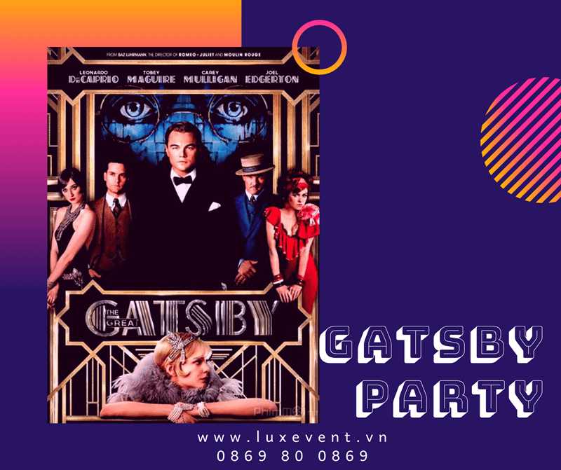ý tưởng tổ chức tiệc tất niên cuối năm gatsby party