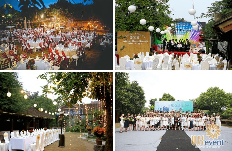 địa điểm tổ chức tiệc tất niên công ty ngoài trời tại Hà Nội