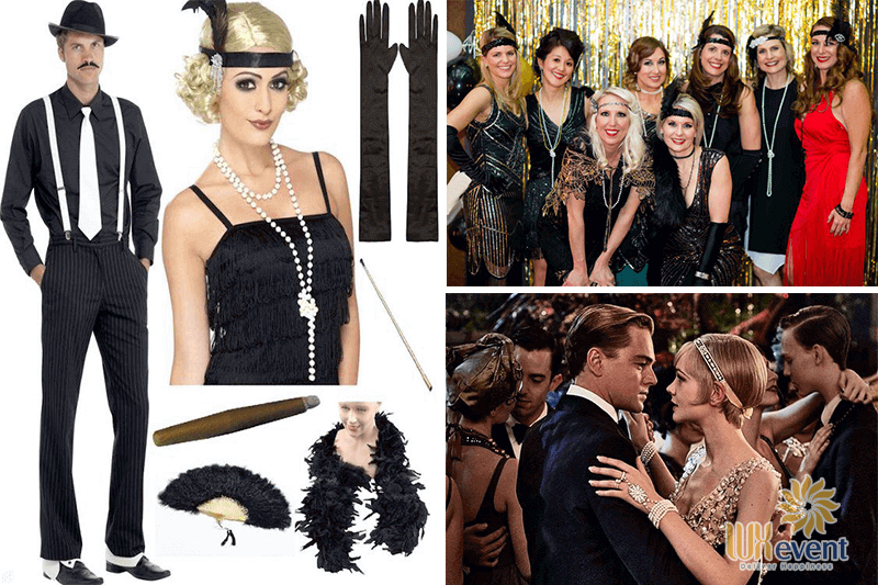 year end party concept gatsby party