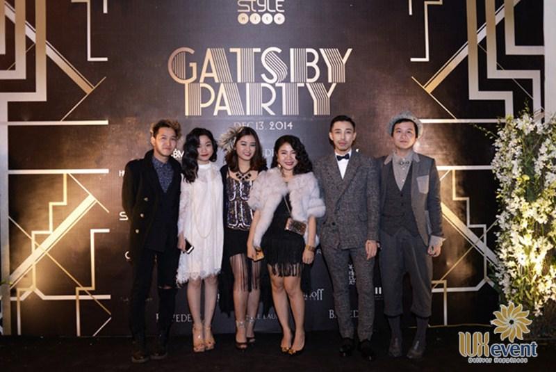Mẫu backdrop tiệc tất niên concept Gatsby Party