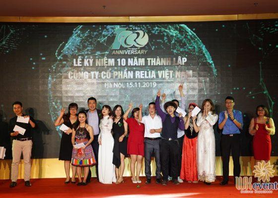 tổ chức lễ kỷ niệm 10 năm thành lập Relia Việt Nam 017