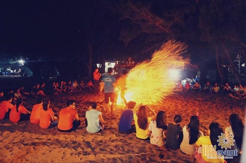 trò chơi team building game lửa trại
