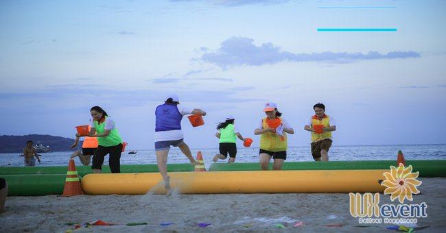 các trò chơi team buiding trên biển
