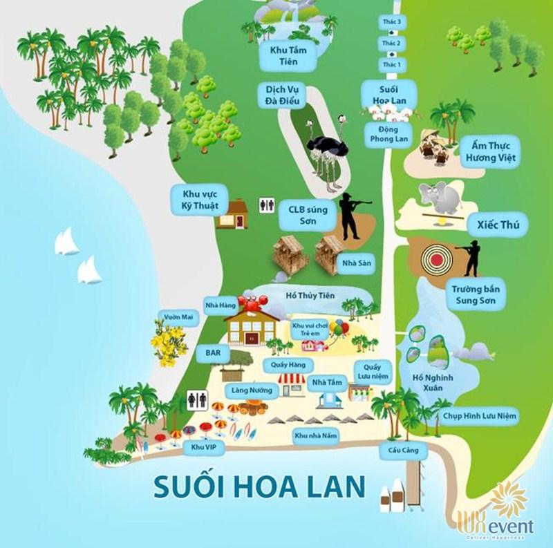 Địa điểm tổ chức team building Nha Trang tại Khu du lịch suối Hoa Lan