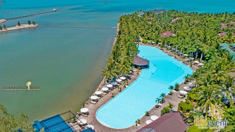Địa điểm tổ chức team building kết hợp hội nghị sự kiện tại Nha Trang Diamond Bay Resort