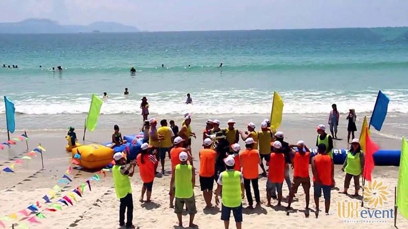 Địa điểm tổ chức team building Nha Trang ở bãi biển Dốc Lết