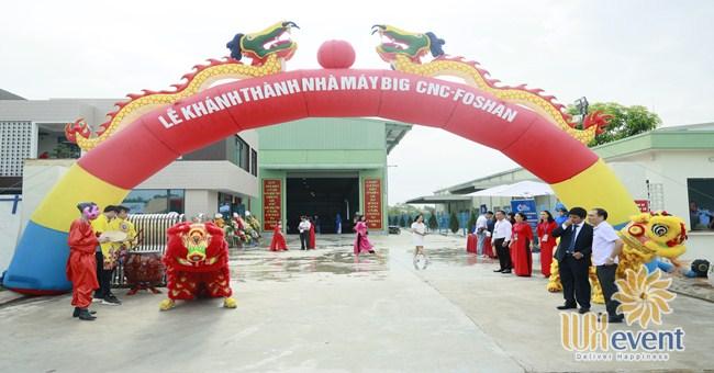 tổ chức lễ khánh thành nhà máy big cnc công ty foshan 002