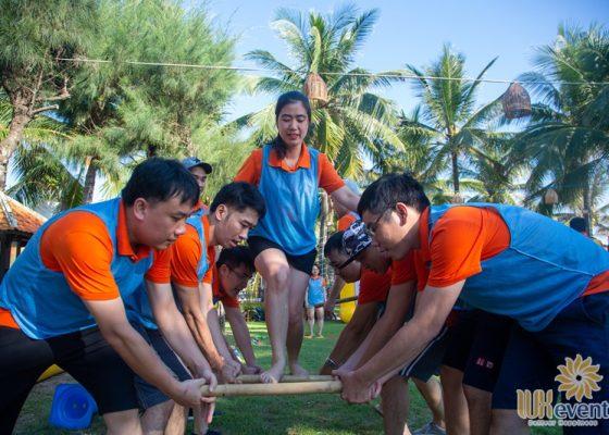 tổ chức du lịch team building Cửa Đại SHB Hoàn Kiếm 007