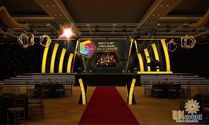 thiết kế backdrop sự kiện gala dinner