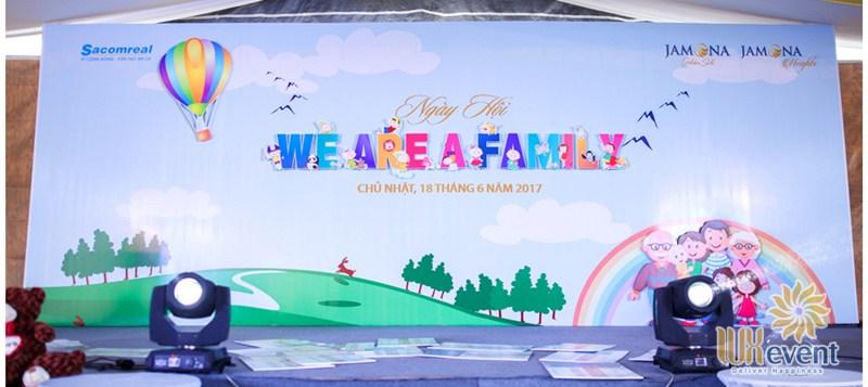 thiết kế backdrop ngày hội gia đình