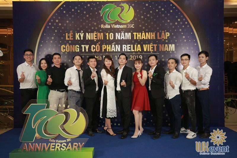 backdrop sự kiện kỷ niệm 10 năm thành lập công ty