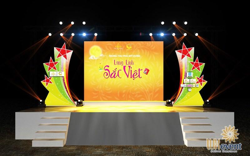 backdrop sự kiện trung thu thiết kế 3D
