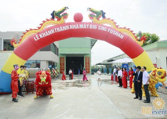 tổ chức lễ khánh thành nhà máy big cnc công ty foshan 004