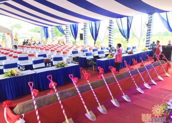 tổ chức lễ khởi công nhà máy