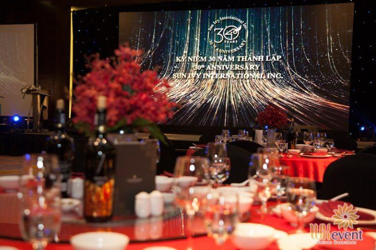 tổ chức gala dinner kỷ niệm thành lập công ty