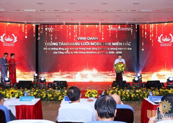 tổ chức hội nghị biểu dương điển hình tiên tiến Trung tâm mạng lưới Mobifone miền Bắc 021