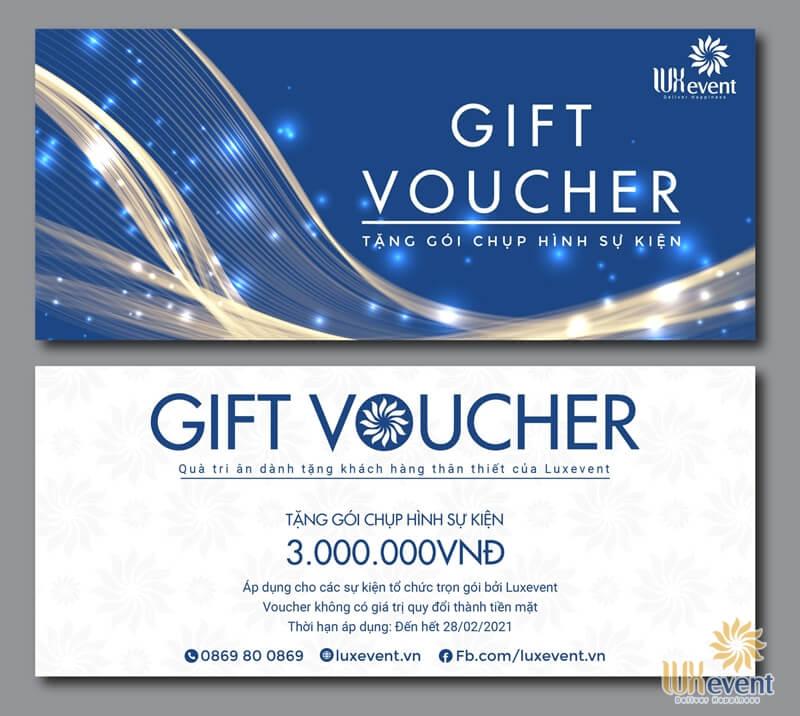 voucher tri ân khách hàng tổ chức tiệc tất niên cuối năm trọn gói - luxevent