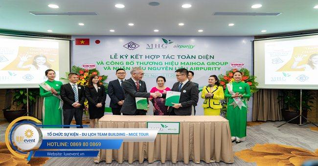 tổ chức lễ ký kết hợp tác toàn diện Mai Hoa Group 001