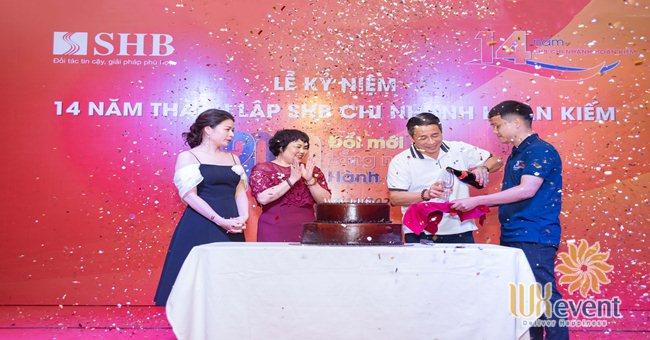 tổ chức lễ kỷ niệm thành lập chi nhánh SHB Hoàn Kiếm 001
