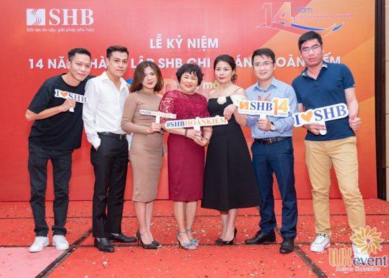 tổ chức lễ kỷ niệm thành lập chi nhánh SHB Hoàn Kiếm 007