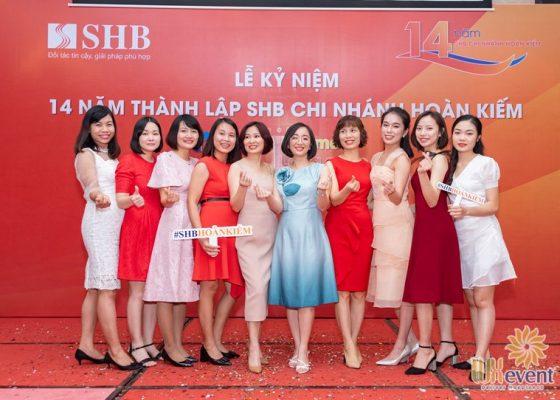 tổ chức lễ kỷ niệm thành lập chi nhánh SHB Hoàn Kiếm 022