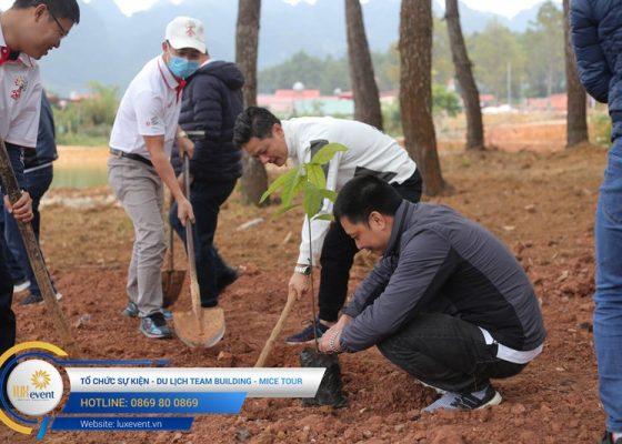 Tổ chức du lịch team building Mộc Châu La Vie Hà Nội 012