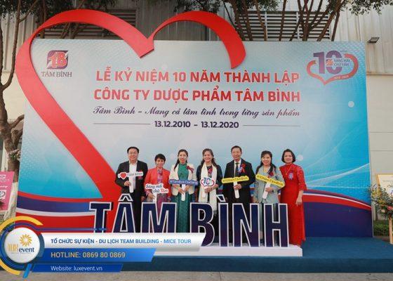 tổ chức lễ kỷ niệm 10 năm thành lập Dược phẩm Tâm Bình 023