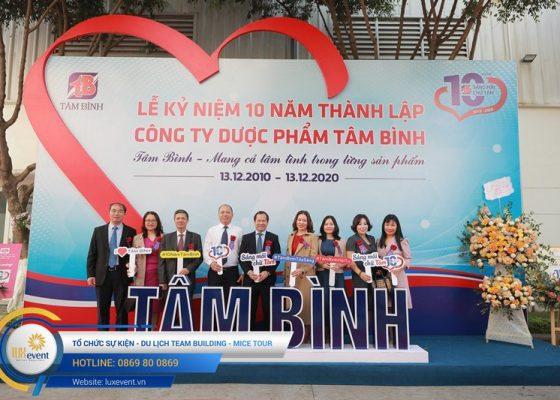 tổ chức lễ kỷ niệm 10 năm thành lập Dược phẩm Tâm Bình 024