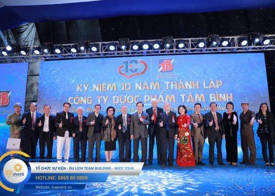 tổ chức lễ kỷ niệm 10 năm thành lập Dược phẩm Tâm Bình 007