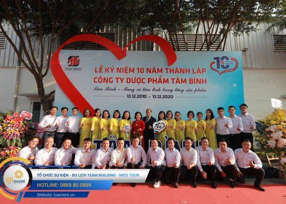 tổ chức lễ kỷ niệm 10 năm thành lập Dược phẩm Tâm Bình 008