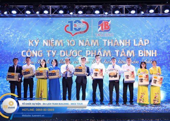tổ chức lễ kỷ niệm 10 năm thành lập Dược phẩm Tâm Bình 037
