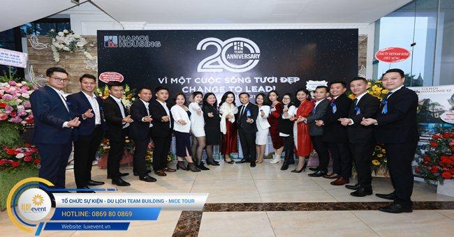 tổ chức lễ kỷ niệm 20 năm thành lập Hanoi Housing 001
