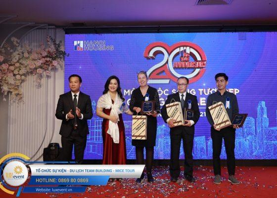 tổ chức lễ kỷ niệm 20 năm thành lập Hanoi Housing 020