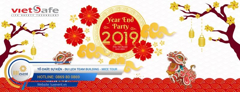 mẫu backdrop tiệc tất niên cuối năm đẹp cho công ty
