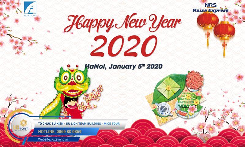 phông tiệc tất niên công ty đẹp 2021